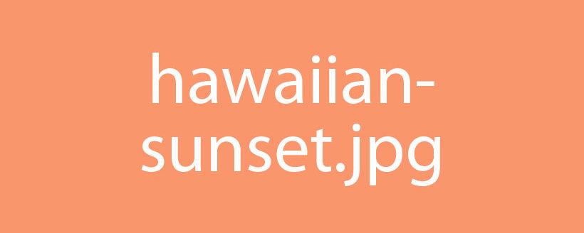 Hawaiian Vacation Sunset